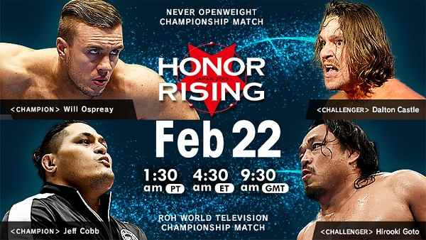 Watch NJPW HONOR RISING JAPAN 2019 Day 1 2/22/19