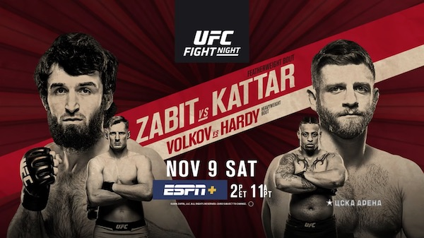 Watch UFC Fight Night 163: Zabit vs. Kattar 11/9/19