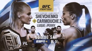 Watch UFC Fight Night Uruguay: Shevchenko vs Carmouche 2 8/10/19