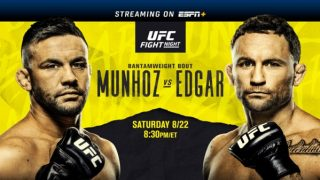 Watch UFC Fight Night Munhoz vs Edgar 8/22/20