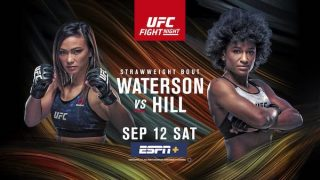 Watch UFC Fight Night 177: Waterson vs Hill 9/12/20