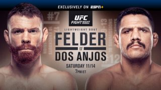 Watch UFC Fight Night 183: Felder vs Dos Anjos 11/14/20