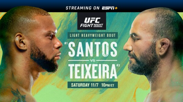 Watch UFC Fight Night: Santos Vs Teixeira 11/7/20