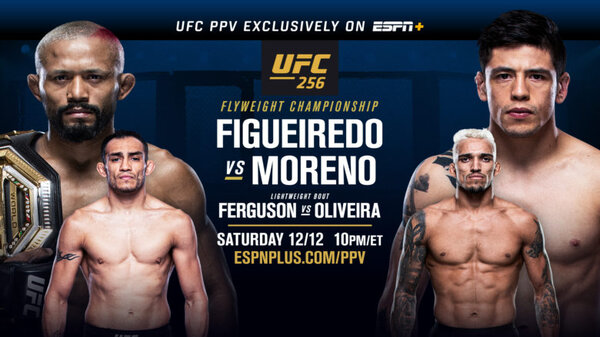 Watch UFC 256 : Figueiredo vs Moreno 12/12/20