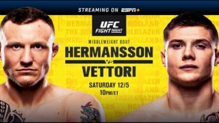 Watch UFC Fight Night: Hermansson vs Vettori 12/5/20