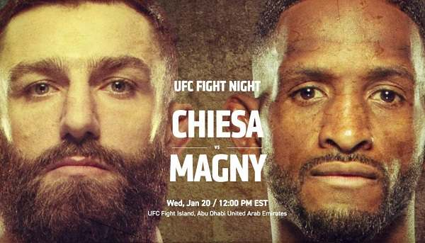 Watch UFC Fight Night: Chiesa vs Magny 1/20/21