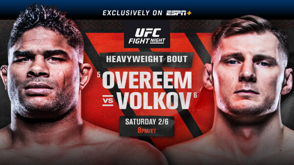 Watch UFC Fight Night: Overeem vs Volkov 2/6/21
