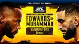 Watch UFC Fight Night: Edwards vs Muhammad 3/13/21